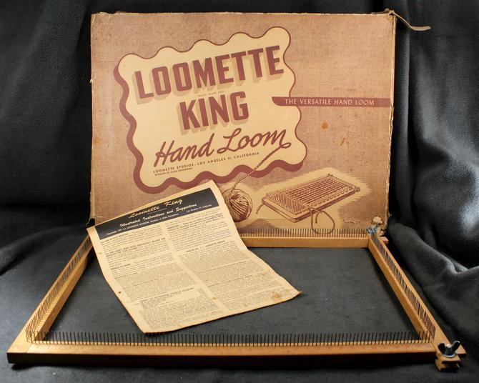 """RARE (and GIANT!) Loomette King Lap or Table Top Hand Loom - 18""""x12"""" Wooden Hand Loom    Free Shipping by Bixley"""