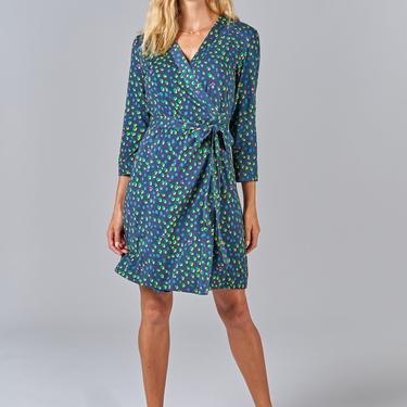 Rachel Wrap Dress   Jungle Dot
