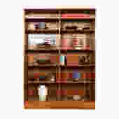 Danish Modern Teak Adjustable Shelf Lighted Bookcase