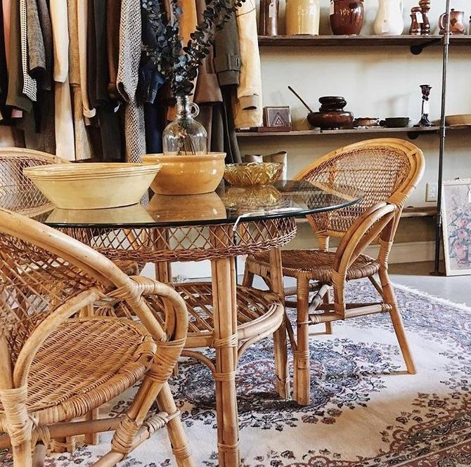 Outstanding Rattan And Glass Dining Table Wicker Dining Table Glass Ocoug Best Dining Table And Chair Ideas Images Ocougorg