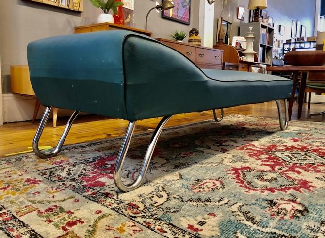 Art Deco Chaise Lounge \/Daybed by KEM WEBER 1930s