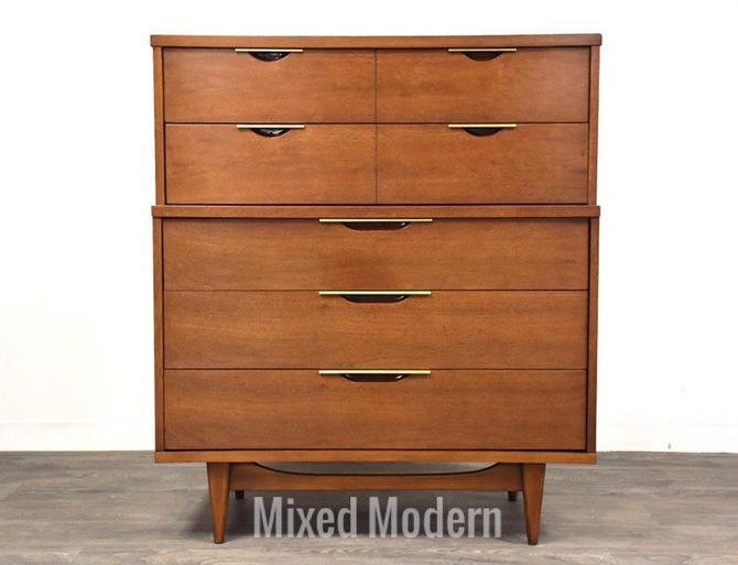Kent Coffey Tableau Walnut Tall Dresser by mixedmodern1