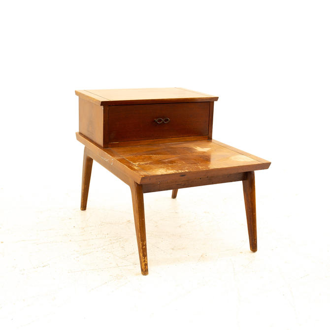 Lane Harlequin Mid Century Walnut Step Side End Table - mcm by ModernHill