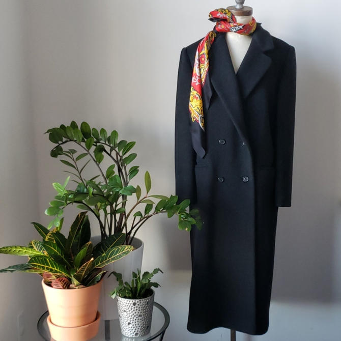 80s J. G. Hook Wool Double Breasted Long Over Coat| Vintage Wool Coat by LoveOnceAgain