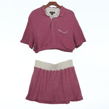 2pc Red Linen Knit dress set