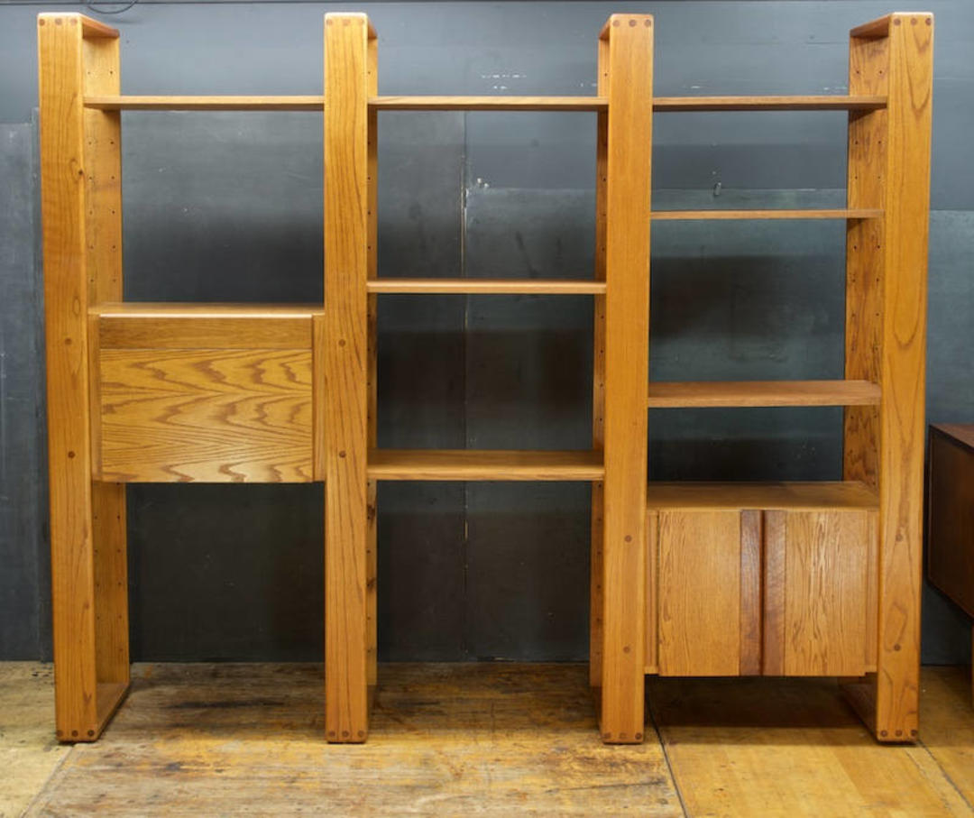 Vintage California Design Group Oak Wall Unit Mid Century