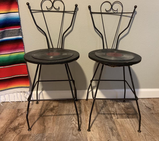Set of 2 Mid Century Pacsco Wrought Iron Chairs by DesertCactusVintage