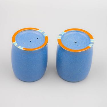 Dansk Mesa Sky Blue Salt and Pepper Shakers | Vintage Southwest Inspired Dinnerware Stoneware Holloware by MostlyMidCenturySF