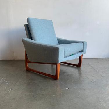 Danish Modern Teak Sculptural Arm Chair by VintageOnPoint