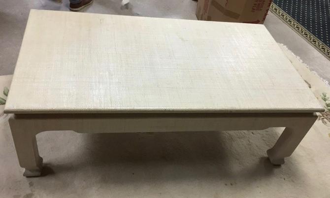 Mid Century Harrison Van Horn Raffia coffee table