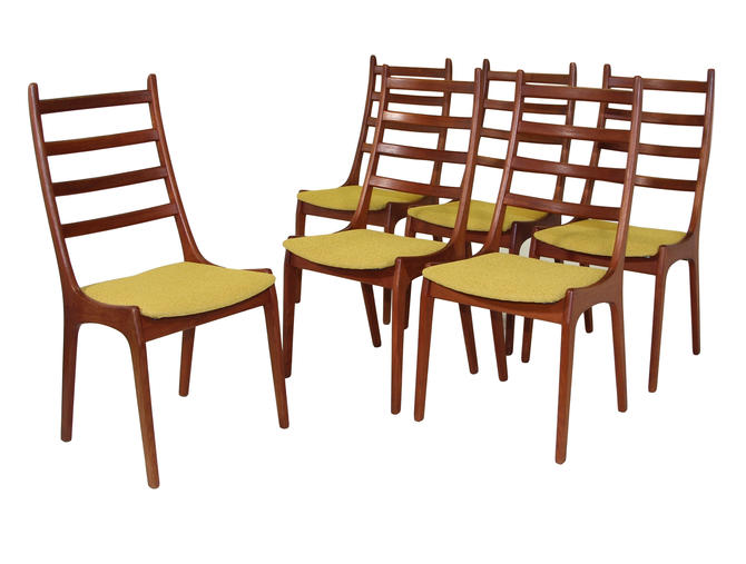 Set Of 6 Danish Modern Chairs By Kai Kristiansen by RetroPassion21