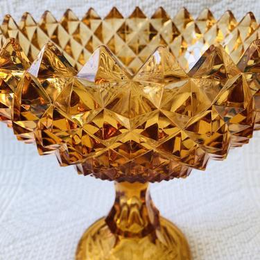 Amber Sawtooth Crystal Bowl
