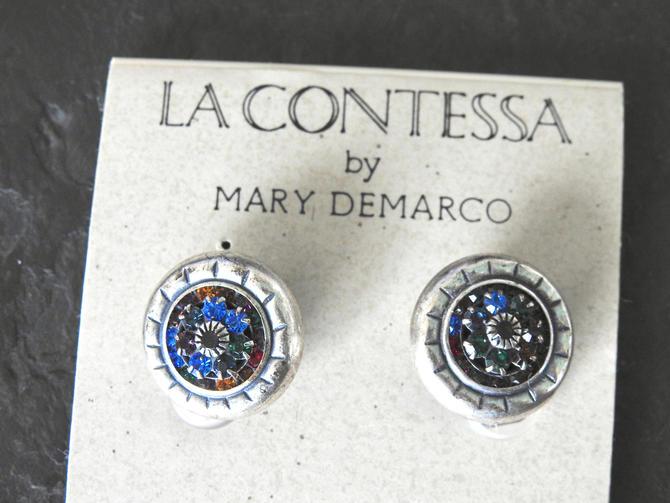 Vintage Mary Demarco Unworn Rhinestone Earrings NWT by LegendaryBeast