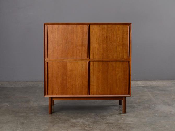 Peter Hvidt Storage Cabinet Solid Teak Mid-Century Danish Modern by MadsenModern