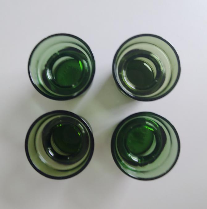 Dansk Green Glass Votives by Jens Quistgaard - Set of 4 by ModandOzzie