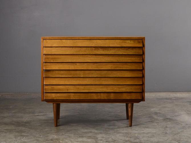 Mid Century Modern Walnut Chest of Drawers Dresser Credenza by MadsenModern