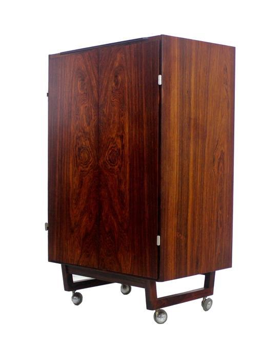 Scandinavian Modern Rosewood Display Cabinet by Georg Jensen