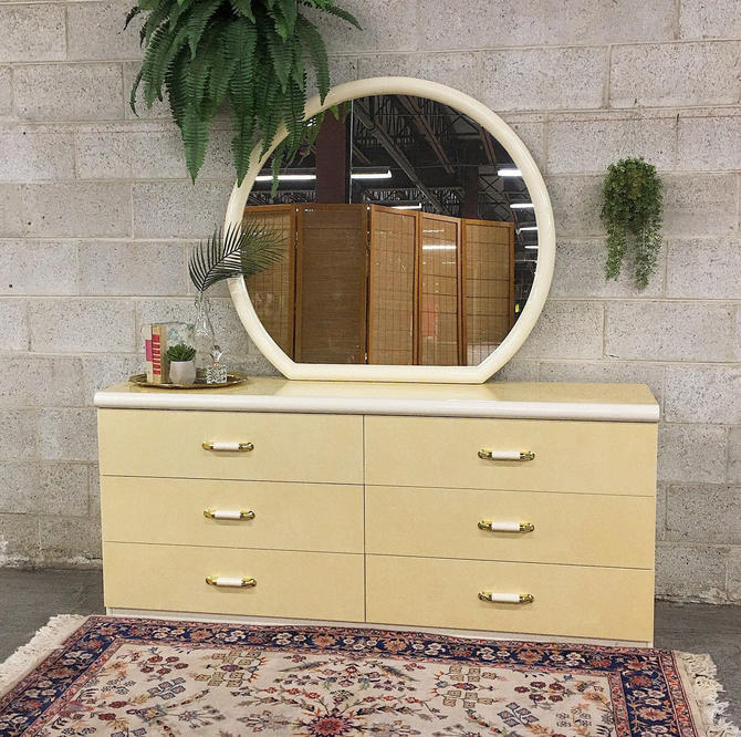 LOCAL PICKUP ONLY ------------- Vintage Dresser + Mirror by RetrospectVintage215