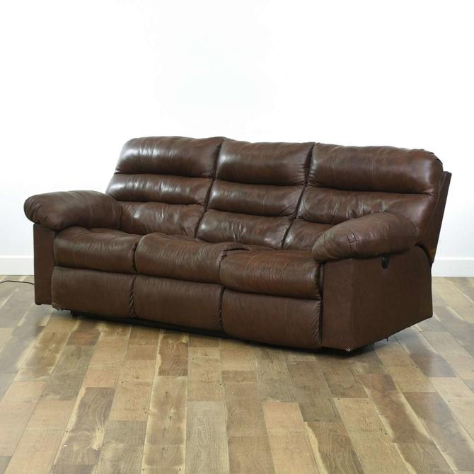 Ashley Furniture Contemporary Brown Recliner Sofa
