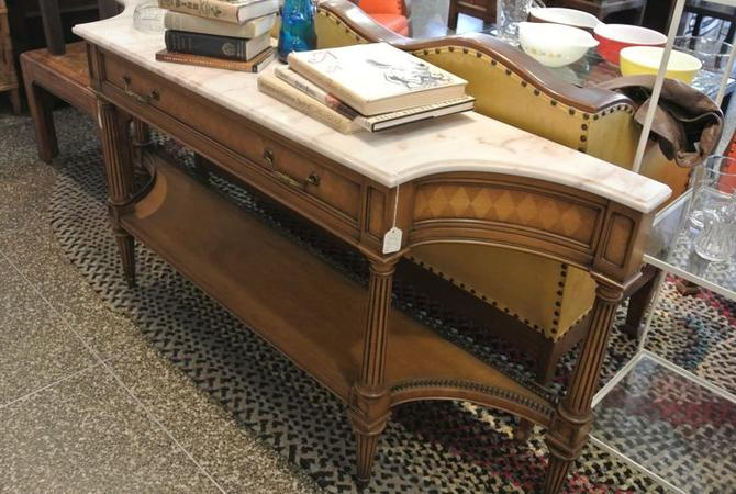 Marble Top Console Table. $350