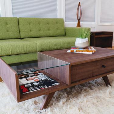 Mid century Coffee Table, Walnut Coffee Table, Modern Coffee Table, Mid-century Modern Coffee Table, coffee table, danish modern by CascadiawoodworksUSA