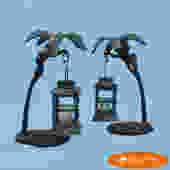 Pair of Monkeys Lantern Holders
