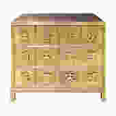 Mastercraft Chest of Drawers in Bronze with Chinese Characters 1970s (Signed)