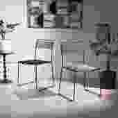 Italian Black Chairs - Set of 2