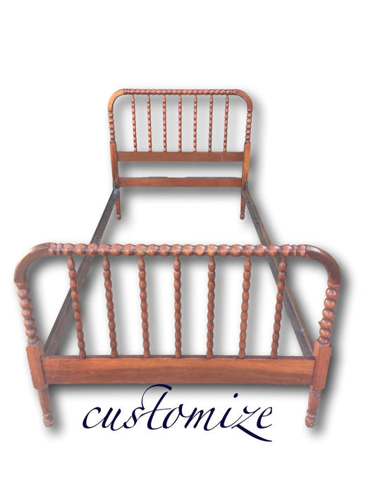 Jenny Lind/spindle bed customize any color Twin size by Dianemarieshome