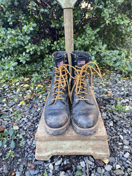 "Vintage ""Danner"" Work Boots Iron Age Logging Boots Men's 11 by DesertCactusVintage"