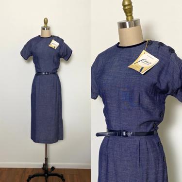 1950s Dress 50s Deadstock Day Dress Rayon Shirley Lee Juniors by littlestarsvintage