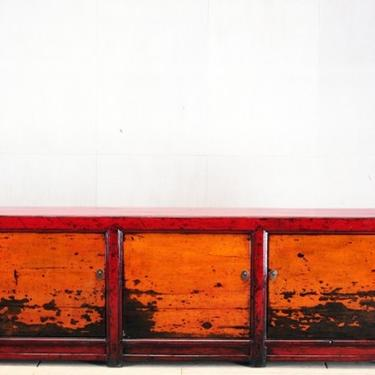 Chinese Sideboard with Three Doors and Restoration