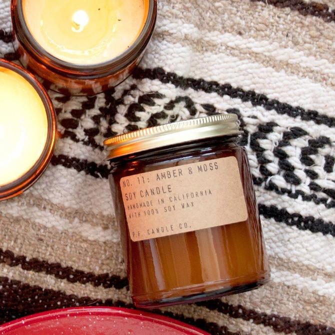 No. 11: Amber & Moss Soy Candle 7.2oz