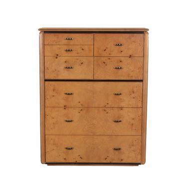 Lane Burl Wood Dresser Wardrobe Mid Century Modern by HearthsideHome
