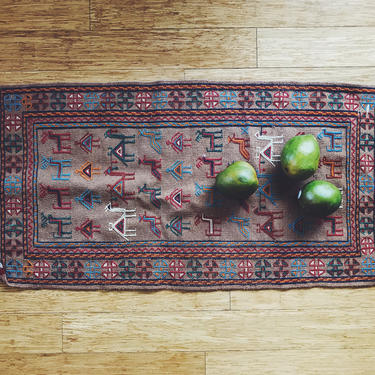 Ram -Tribal Wool woven Persian Kilim - Handmade (Free shipping to USA) by KaashiFurniture