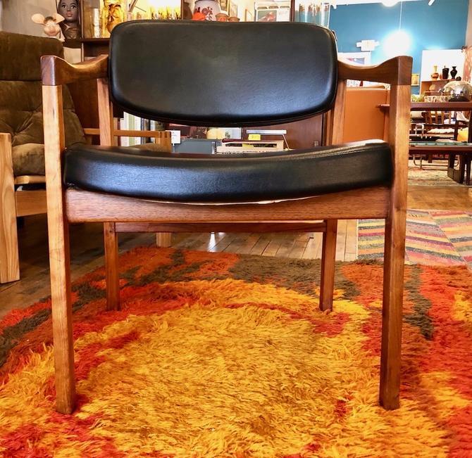 1970's Walnut Armchair by Eck Adams