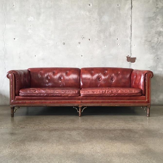 Vintage Leather Chesterfield Style Sofa