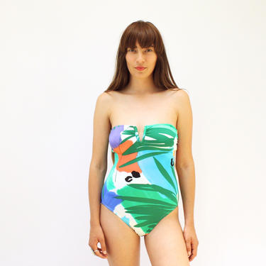 d98389a45524d Added on June 18, 2018. Jungle Boogie Swimsuit // vintage 70s 80s green  animal print one piece ...