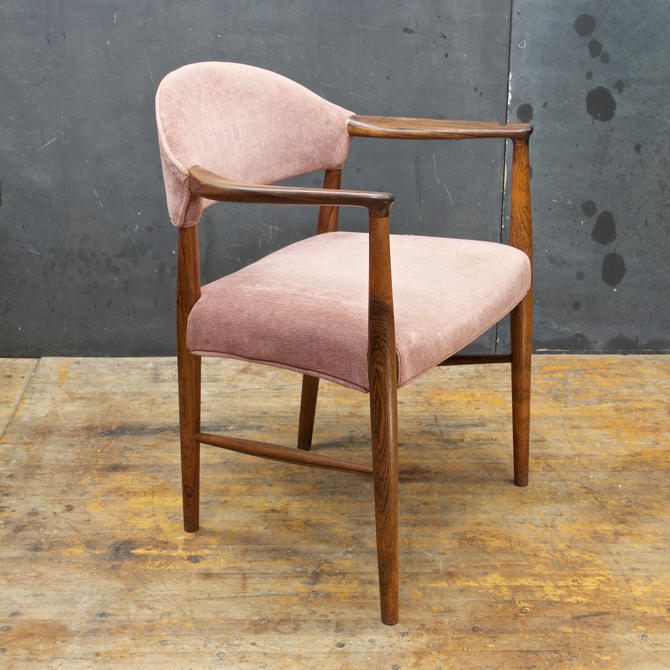 Scandinavian Armchair Mid-Century solid Brazilian Rosewood Vintage Mid-Century Modern Danish Denmark by BrainWashington