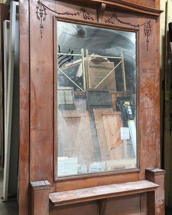 Antique Hall Mirror Community Forklift From Community Forklift Attic