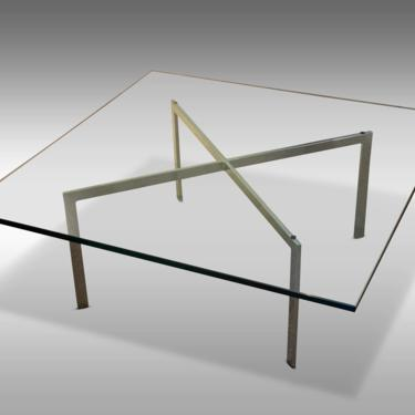 """Ludwig Mies van der Rohe """"Barcelona"""" Coffee Table for Knoll, C. 1970s - Please ask for a shipping quote before you buy. by CoolCatVintagePA"""