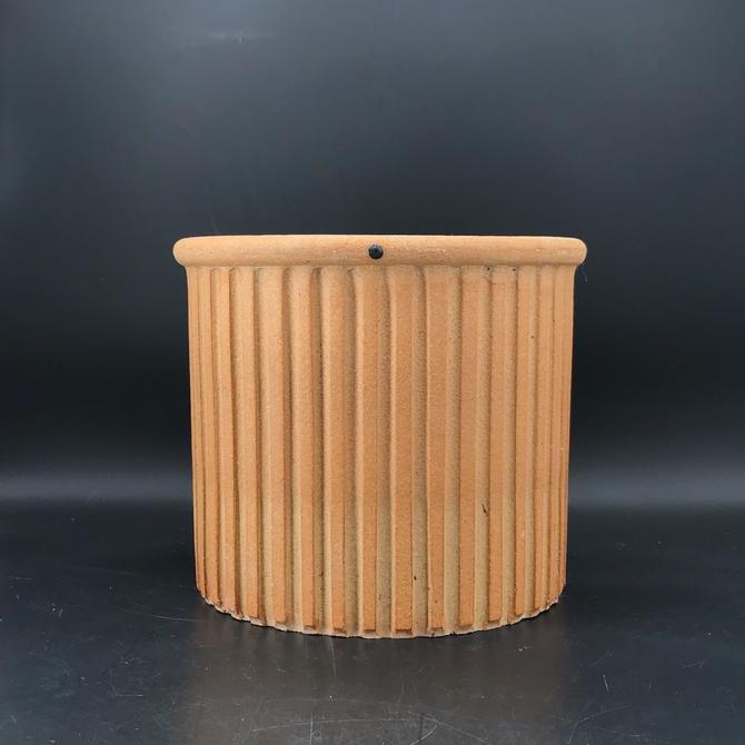 david gil Bennington Ribbed Planter Vase Crock Stoneware Coop Pottery Vintage Mid-Century Bisque by BrainWashington