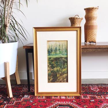 Vintage Impressionist Original Oil Painting - Landscape by TheDistilleryVintage