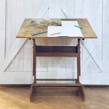 Drafting Table   Desk   Artist Worktop   Drawing Table   Drafting Desk   Vintage   Easel   Adjustable by PiccadillyPrairie