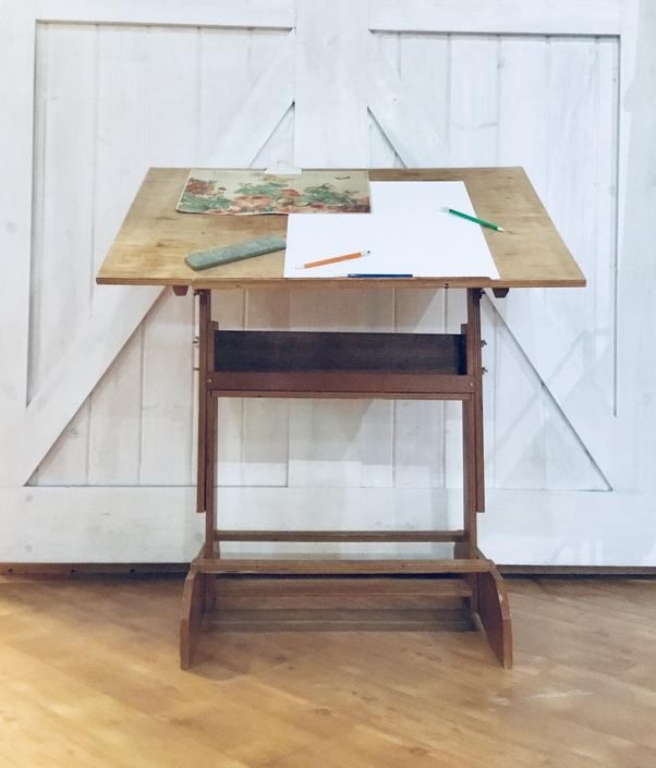 Drafting Table | Desk | Artist Worktop | Drawing Table | Drafting Desk | Vintage | Easel | Adjustable by PiccadillyPrairie
