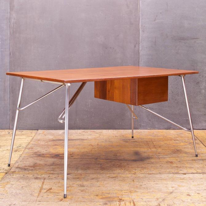 Borge Mogensen Denmark 1950s Teak Metal Desk
