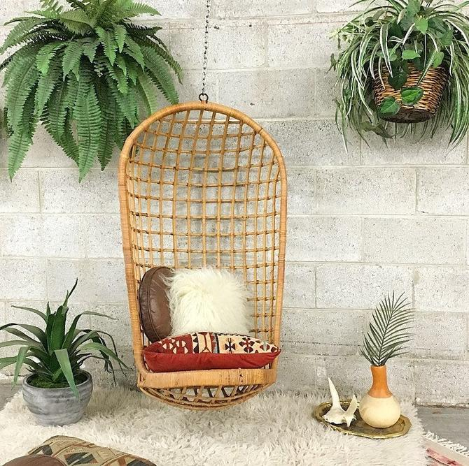 LOCAL PICKUP ONLY ------------ Vintage Rattan Chair Swing by RetrospectVintage215