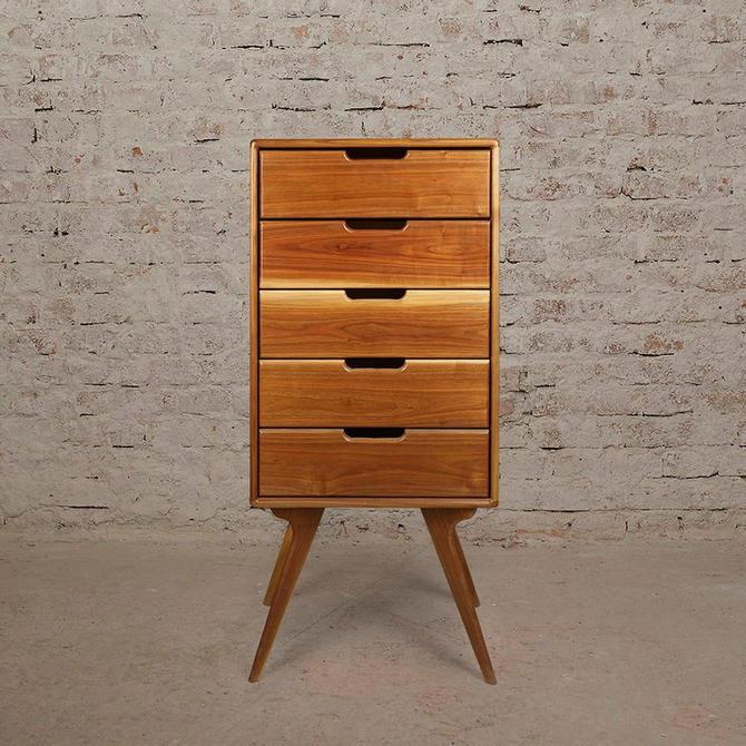 Walnut High Dresser, Mid Century Dresser, High Boy Dresser, Scandinavian design by MOKUArtisanFurniture