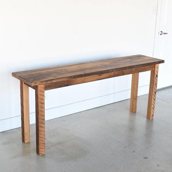 Farmhouse Reclaimed Wood Console Table by wwmake