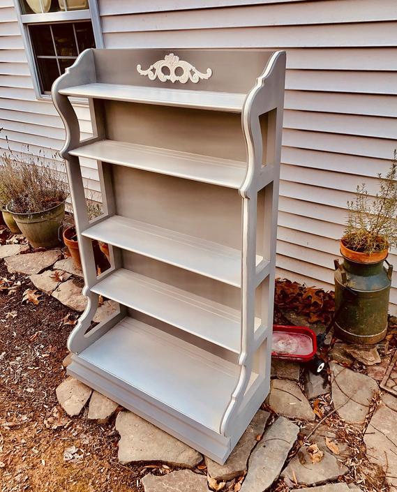 Drexel Solid Wood Bookcase Bookshelf Etagere by JoyfulHeartReclaimed